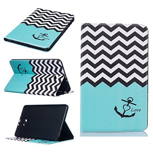 Galaxy Tab A 10.1Fall, beimu Ultra Leicht Slim PU Leder mit Kreditkarte & ID Card Slot Schutzhülle für Samsung Galaxy Tab A 25,7cm (sm-t580/sm-t585) (Kein S Pen) Tablet 2016Release, Wave Anchor