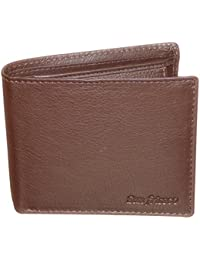 Style98 Pure Leather Brown Men' Slim Wallet With Card Holder & Coin Pocket - B01LXTKD3G