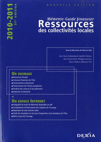 ressources-des-collectivites-locales-2010-2011-memento-guide