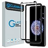 Cubevit Galaxy S9 Schutzfolie, Samsung Galaxy S9 Folie Panzerglas, Case Friendly/Vollständige Abdeckung/Blasenfreie/3D HD Klar Panzerglasfolie Glas Displayschutzfolie für Galaxy S9 - Schwarz