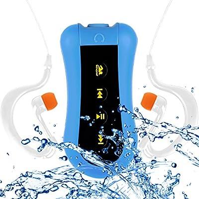 COOSA 4GB / 8GB impermeable natación reproductor de música Waterproof Reproducto MP3 con Waterproof auriculares, radio FM para la natación y otras actividades deportivas