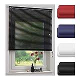ourdeco® Jalousie aus PVC / 90 x 220 cm (Breite x Höhe) / Farbe schwarz/lichtdurchlässig bis Blickdicht/Einfache Montage an Wand oder Decke