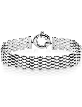 Citerna Armband, Sterling-Silber 925 Gliederkette, 9-reihig, 20,5 cm