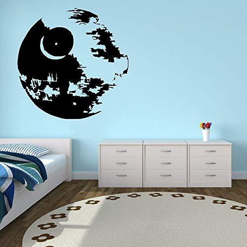 jiuyaomai Vinyl Wandaufkleber Kinder Jungen Zimmer Poster Wandkunst Wandhauptdekoration Removable Death Star Vinyl Wand braun 42x42 cm