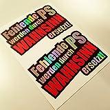 2 Aufkleber Set Fehlende PS Metallic Effekt Hologramm Oilslick Rainbow Flip Flop Shocker Hand Auto Aufkleber JDM Tuning OEM Dub Decal Stickerbomb Bombing Sticker Illest Dapper Fun Oldschool