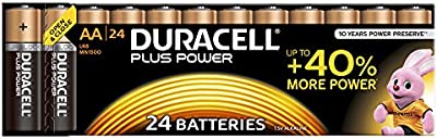 Duracell Plus Power - Pila AA (paquete de 24 unidades)