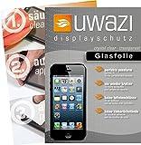 uwazi Apple iPhone 5 / 5S / 5C Semi Glasfolie - gehärtete Schutzfolie mit Spezialbeschichtung gegen Fingerabdrücke