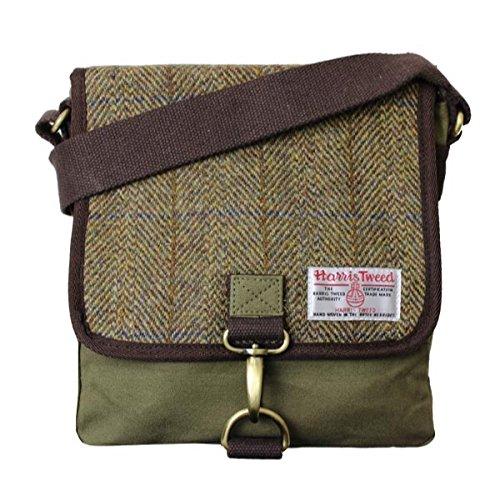 Damen oder Herren Traditionelle Harris Tweed und Canvas Messenger Bag In der...