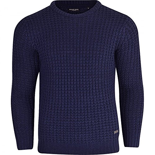 Brave Soul Mens High Quality 'Chunky Cable Knit' Jumper Pullover Winter Sweater