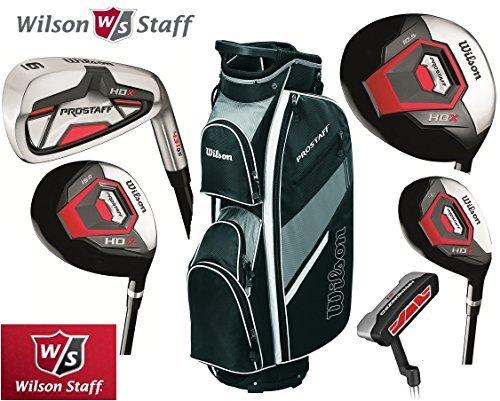 Ensemble Club de Golf Wilson Prostaff HL Homme Complet & Sac Golf Prosaff Noir Tout Graphite...