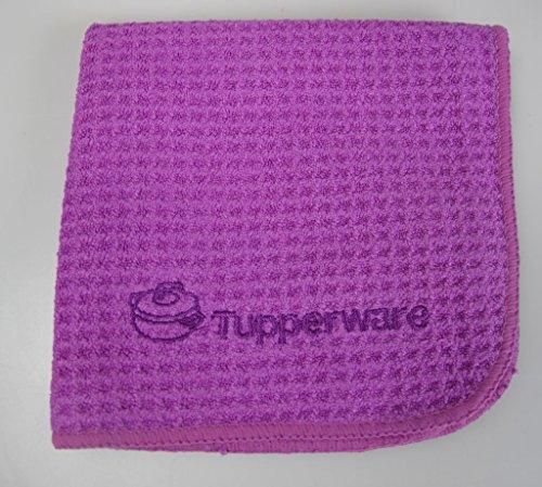 TUPPERWARE FaserPro Glanz Lila T20 Mikrofasertuch Edelstahl