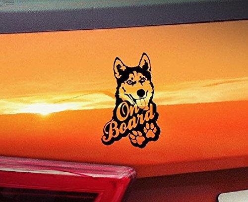 Husky On Board???Malamute Hunde On Board, Welpen, Tiere, hochwertiger Kleber Pfoten golden Window Vinyl Aufkleber Aufkleber Hund