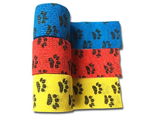 lisacare-fixierbinde-5cm-x-45m-3er-set-motiv-pfote-in-gelb-rot-blau-kohsive-bandage-wundverband-pfla