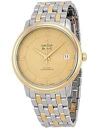 Omega DeVille Prestige Acero y Amarillo Oro Mens Reloj 42420372008001