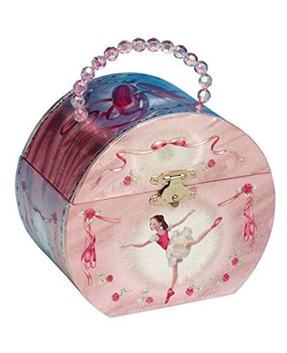 Le Monde de la Boîte à Musique - Coffret à bijoux en forme de sac avec motif ballerine - En ouvrant le couvercle une petite ballerine apparaît et tourne sur la mélodie «Ballerina» - Largeur 150 mm