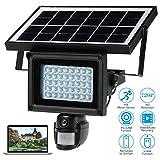 KKmoon 40 IR LEDS Solar Flutlicht Street Lampe 720p HD CCTV Sicherheit Kamera DVR Recorder PIR Motion Detection Sonnenenergie kostenlos eingebaute Lithium Batterie Unterstützung PC-CAM TF-Karte