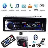 VIGORFLYRUN PARTS LTD 1 DIN Radio del Coche Auto Audio Estéreo FM Bluetooth MP3 Reproductor Estéreo 12V Soporte SD/TF / USB/FM / Bluetooth/MP3/AUX con Control Remoto