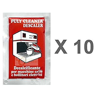 Puly Cleaner Descaler Espresso Coffee Machine 30g Sachet (Pack of 10) by Asachimici