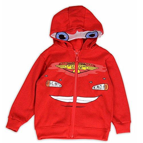 Disney Pixar Cars Kleinkind Jungen Lightening McQueen Red Full Zip ()