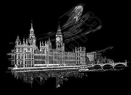 Royal & Langnickel FAM-1 - Engraving Art/Kratzbilder, DIN A3, Big Ben und Parlament, silbe Preisvergleich