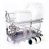 #10: Heft® Kitchen Rack With Removable Strong Plastic Drip Tray/Racks & Shelves/Racks/Dish Rack/Utensil holder rack