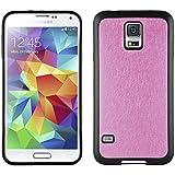 JAMMYLIZARD | Back Cover für [ Samsung Galaxy S5 & S5 Neo ] Glitzernde Hülle aus Silikon, KNALLROSA