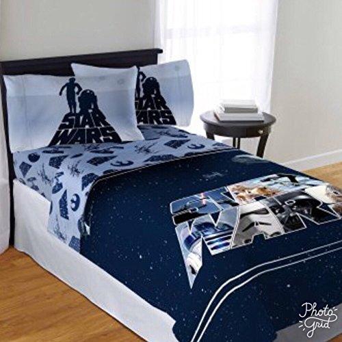 S&w disney star wars kids 3piece twin sheet set lenzuola e federe con custodia