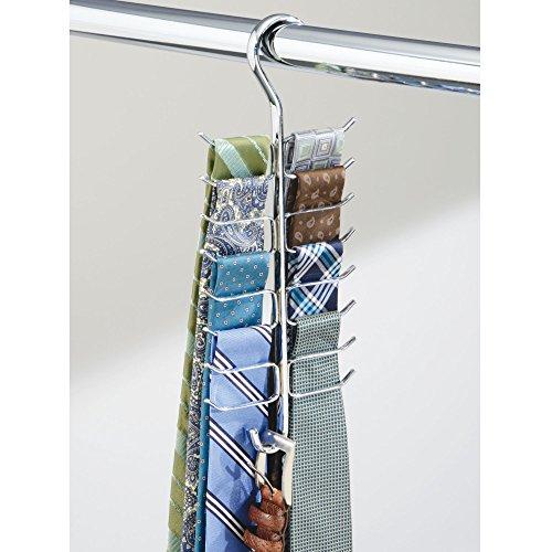 # mDesign portacinture e portacravatte – perfetto appendi foulard verticale con 17 asticelle per alloggiare nell'armadio cravatte, cinture, sciarpe etc. – colore: cromo confronta il prezzo online