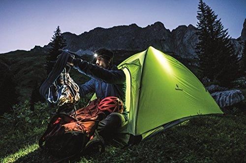 Black Diamond Moji Ochre / Zeltlicht - helle, spritzwassergeschützte LED-Lampe mit langer Laufzeit von 70 Stunden / Kleines Campinglicht, max. 100 Lumen