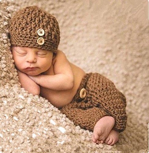 Ximkee Nette neugeborene Baby-Mädchen-Baby-Häkelarbeit-Kostüm Foto Fotografie Props 0-6 Monate