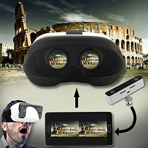 Mini-Aluminium-VR 3D-720P Digitalkamera Pentax Video Audio-Doppelobjektiv -Camcorder mit Virtual Reality Gear (Silber-Ausrüstung)