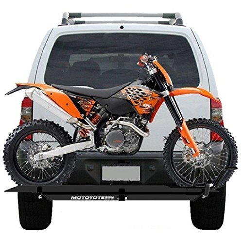 MOTOTOTE MOTO TOTE DIRT BIKE MOTORCYCLE CARRIER HITCH HAULER RACK RAMP by Moto-Tote - Bike Hitch Rack
