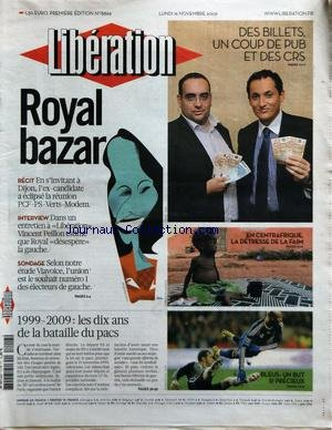 LIBERATION [No 8869] du 16/11/2009
