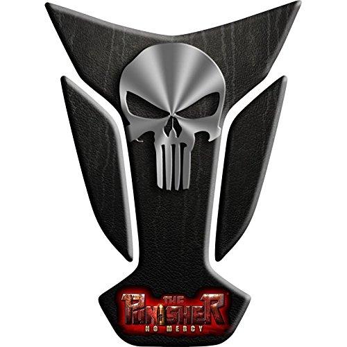 Tankpad Motorad Draht Muster Tankschutz KOMPATIBEL Polymer , The Punisher Big Wings 13x17,5cm'