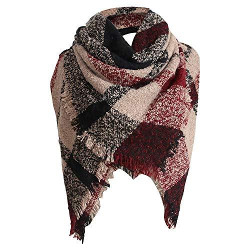 TianWlio Frauen Schals Frauen Neue Tartan Plaid Winter Warm Square Decke Schal Large Checked Wrap Schal