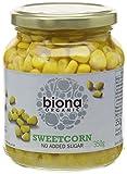 Biona Organic Jarred Sweetcorn 350 g (Pack of 6)