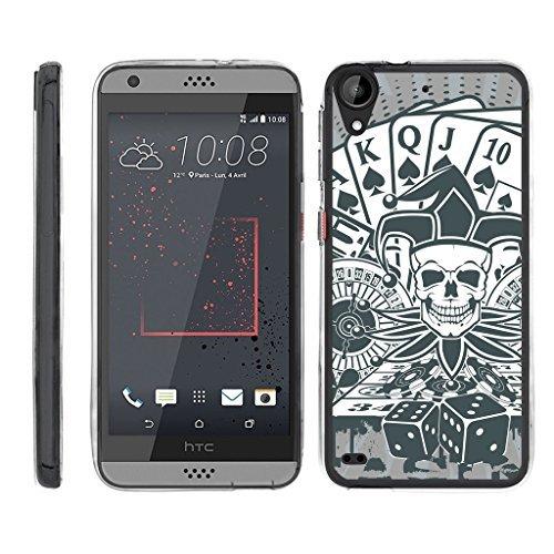 TurtleArmor Schutzhülle für HTC Desire 530 (Flexibler Panzer), flexibel, Schlankes Design, flexibel, flexibel, für Sport und Spiele, Joker Skull (Htc Desire Virgin Mobile)