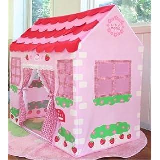 Allkindathings  girls Children Pink Princess Play Wendy House Outdoor Garden Tent Kids Toy