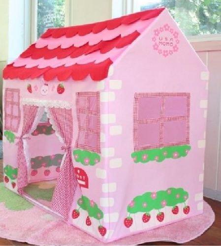 Allkindathings Tienda de campaña para niños con diseño de princesa rosa, ideal para casa o jardín