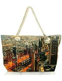 Snoogg Heart Of The City Women Anchor Messenger Handbag Shoulder Bag Lady Tote Beach Bags Blue
