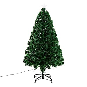 Homcom Weihnachtsbaum künstlicher Christbaum Tannenbaum Baum mit Ständer, Metall, grün,  Höhe 120 cm