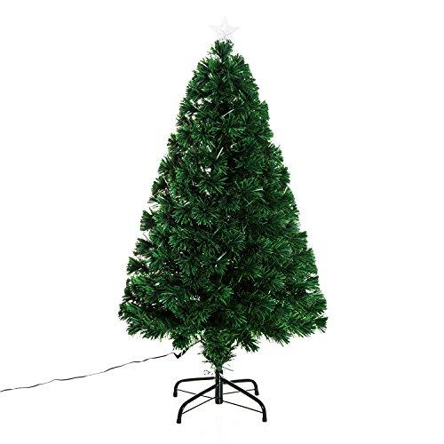 Homcom, albero di Natale in fibra ottica (già illuminato) da 120 cm