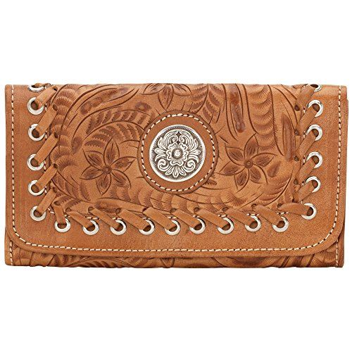 american-west-harvest-moon-collection-ladies-tri-fold-wallet