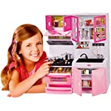 Toyshine Modern Kitchen With Music And Lights, Pink, 10 Inches