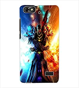 ColourCraft Flaming Warrior Design Back Case Cover for HUAWEI G PLAY MINI