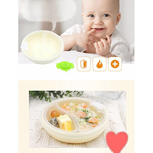DAYNECETY Baby Stay Put Suction Bowl For Weaving Warming Plate Children Sucker Feeding Dish Bowl Non-slip Tableware Spill Proof 51kWyA6BHOL