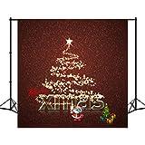 8X18ft Polyester Beleuchtung Weihnachtsbaum Foto Hintergrund Kulisse Santa Claus Geschenke Fotografie Hintergrund Studio Requisiten