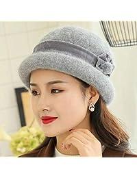 XDXDWEWERT Cappelli   Caps Bambino Inverno Caldo di Lana Cappello Madre di  Mezza età Cappello Accessori 0383e7136f71