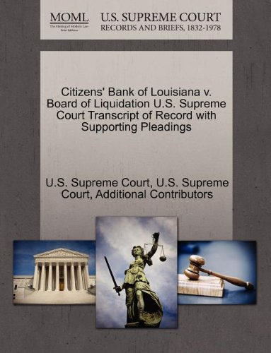 citizens-bank-of-louisiana-v-board-of-liquidation-us-supreme-court-transcript-of-record-with-support