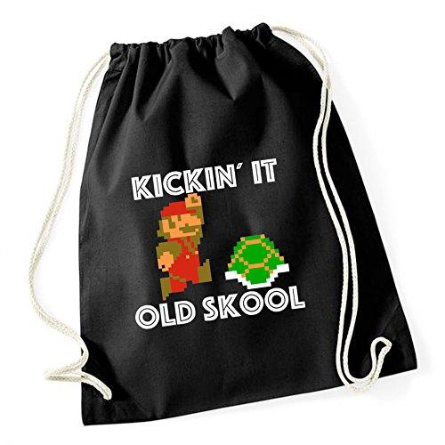 Kickin`It Old Skool Gymsack Black Certified Freak (Pokemon Psp)